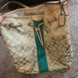 Coach limited ed bucket tote